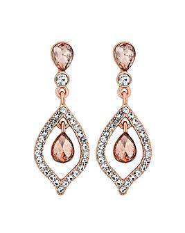MOOD Rose Gold Blush Teardrop Earrings