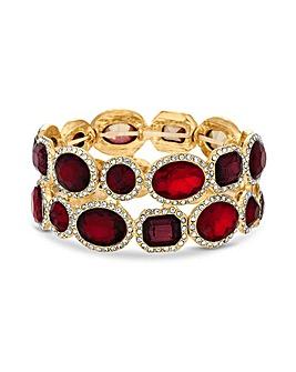 MOOD Red Chunky Stretch Bracelet