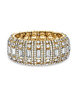 MOOD Gold Baguette Stretch Bracelet