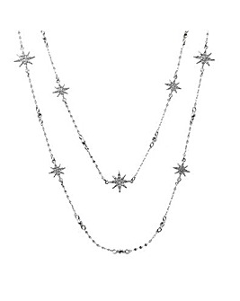 MOOD Celestial Star Multirow Necklace