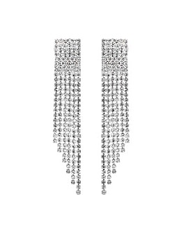MOOD Crystal Shower Drop Earrings