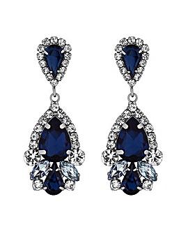 MOOD Blue Mix Shape Teardrop Earrings