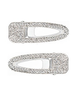 MOOD Pave Hair Clips 2pk