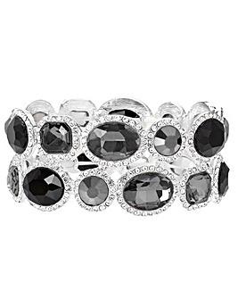 Tonal Grey Stretch Bracelet