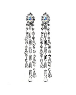 Silver Shower Drops Earring