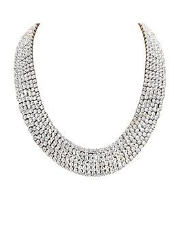 Gold Crystal Multirow Allway Nacklace