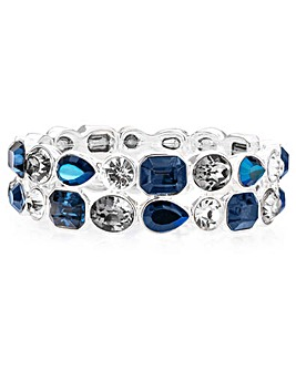 Tonal Blue Stone Stretch Bracelet