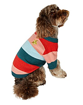 Accessorize Stripe Dog Jumper