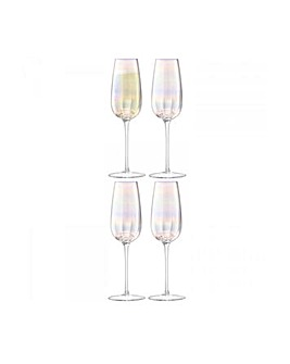 LSA Pearl Champagne Flute Set of 4