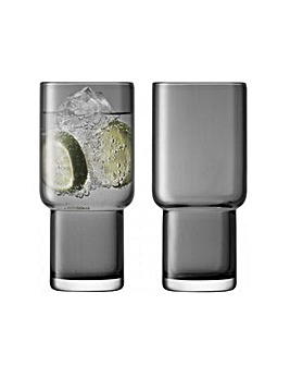 LSA Utility Highball Glasses Set of 2
