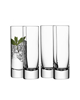 LSA Bar Long Drink Glasses Set of 4
