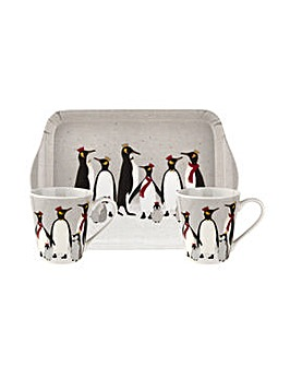 Sara Miller Penguin Mug & Tray Set