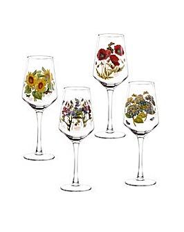 Portmeirion Botanic Garden Wine Glass x4