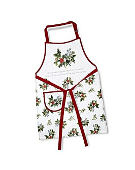 Holly & Ivy Cotton Apron