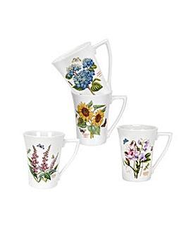 Portmeirion Botanic Garden 10oz Mugs x 4