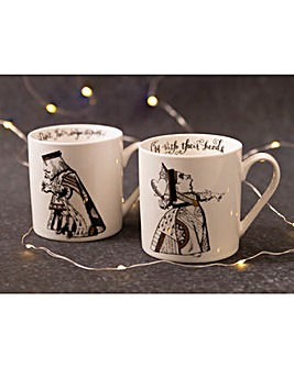 Alice in Wonderland His and Hers Mugs