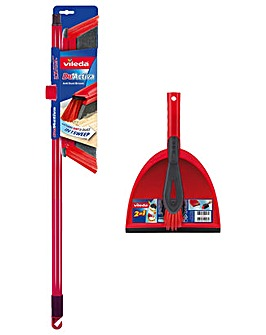 Vileda DuActiva Broom and Dustpan Set