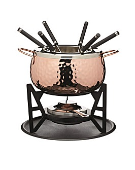 Artesa Copper Finish Fondue Set