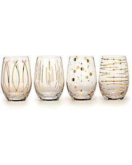 Mikasa Cheers Stemless Wine Glasses