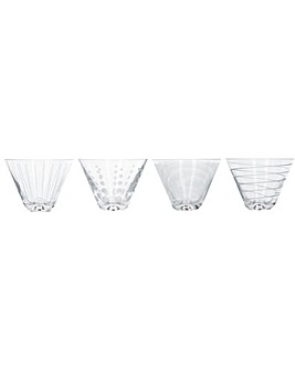 Mikasa Set of 4 Stemless Martini Glasses