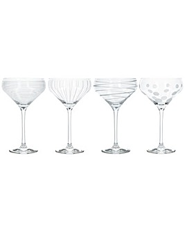 Mikasa Set of 4 Champagne Saucers