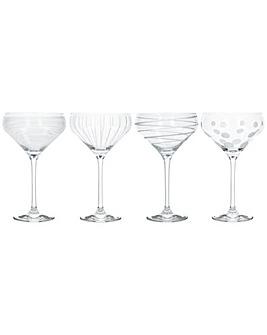 Mikasa Set of 4 Champagne Saucers