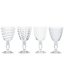Mikasa Cheers Set of 4 Goblets