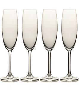 Mikasa Julie Set of 4 Flute Glasses
