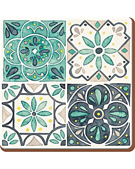 Creative Tops Green Tile 6 Coasters