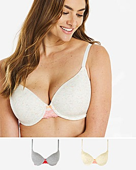 Pretty Secrets Sophia Cotton 2 Pack Tshirt Bras