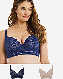 Mila 2 Pack Lace Non Padded Balcony