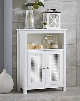 Bali Rattan Two Door Floor Cabinet with Adjustable Shelf