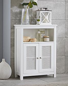 Bali Rattan Two Door Floor Cabinet with Adjustable Shelf