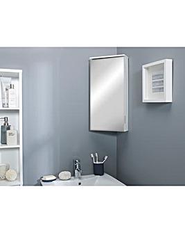 Nova Gloss Mirror Corner Cabinet