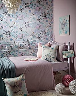 Unicorn Wallpaper - Fairytale Ice Blue
