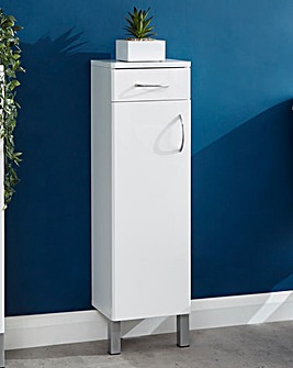Luna Gloss One Door One Drawer Cabinet