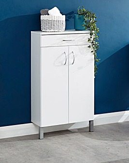 Luna Gloss Two Door One Drawer Cabinet
