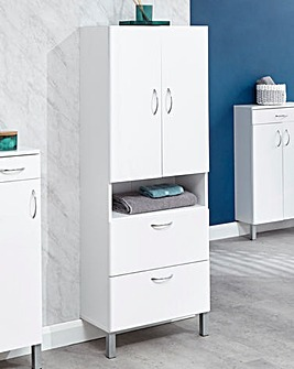 Luna Gloss Two Door Two Drawer Cabinet