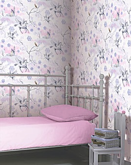 Unicorn Wallpaper - Fairytale Lilac