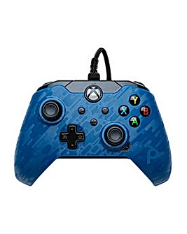 Wired Controller - Blue Camo Xbox One