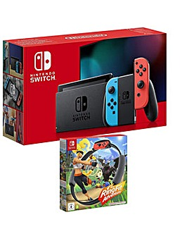 Switch Neon Console and Ring Fit