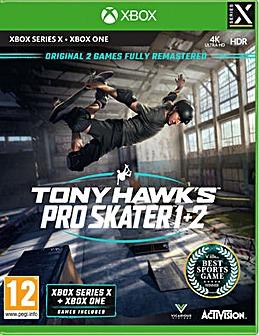 Tony Hawk Pro Skater 1 and 2 Series X