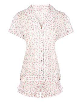 Boux Avenue Cotton Dobby Shorts Set