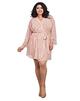 Dreamgirl Pink Leopard Chiffon Robe