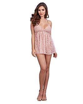 Dreamgirl Pink Leopard Babydoll