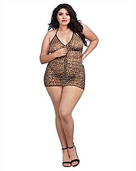 Dreamgirl Leopard Mesh Chemise
