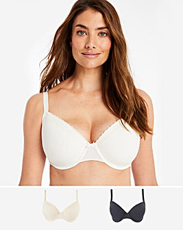 Dorina Curves 2Pack Lila Wired T Shirt Bras