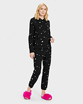 Ugg Pillar Print Double Knit Fleece Top