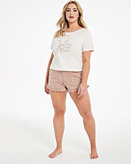 Boux Avenue Giraffe T and Shorts PJ Set