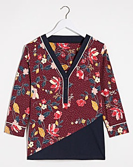 Joe Browns Plum Floral Top